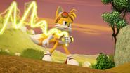Tails using his enerbeam