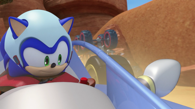 File:Sonic in his car.png