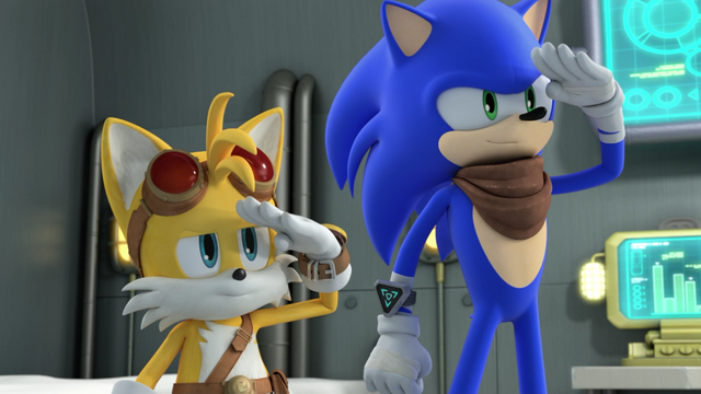 File:Sonic and Tails salute.png