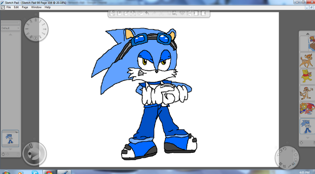 File:Thunder the Hedgehog by Metal.png