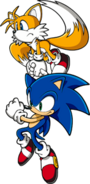 Sonic with Tails Pose