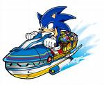 Sonic on a Waterbike