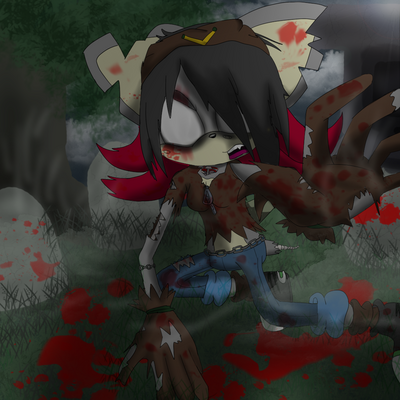 Fang the Zombie Hedgehog (Blood Effects) 2