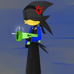 Captain bird and his Bazooka