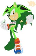 Darklight the hedgehog- sonic riders style