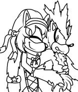 Pc selania hugging werehog silver x3 by keirathehedgehog-d4sehin