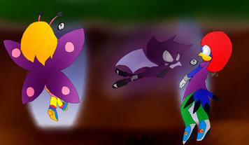 Dark Dash, Blue Jay and Lemony