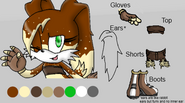 Cocoa the dog reference sheet