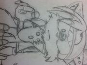 Emerl the Fox Sad