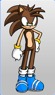 Bladez the Hedgehog (with ring cuffs!)