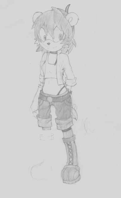 Mel the Mongoose - Sketch -