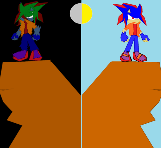 File:Leo The Hedgehog (Day and Night).png