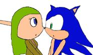 Sonic and Terra looking at each other