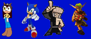 Sonic, Lin Chung, Julie and Jak