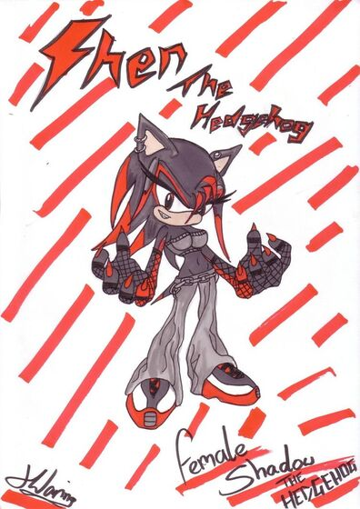 Female shadow the hedgehog shen by chantellethehedgie-d4uuipz