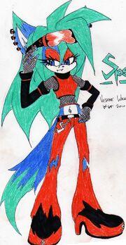 Specter the fox coloured by veshae-d34ur07