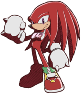 Knuckles in Riders outfit