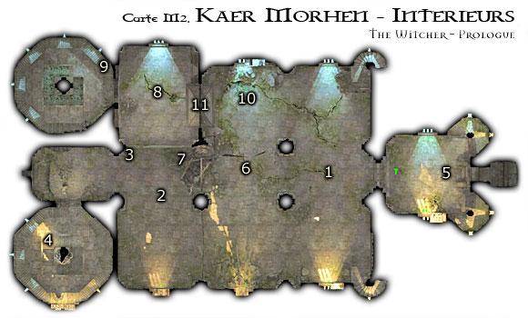 Map M2 - Intérieur de Kaer Morhen