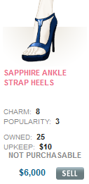 Sapphire Ankle Strap Heels