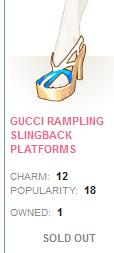 Gucci Rampling Slingback Platforms