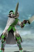 Henry Wielding his Swords