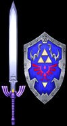 Master Sword & Hylian Shield