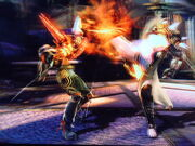Helen kicks Shindra