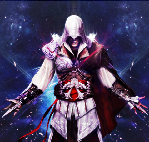 File:Ezio Auditore Poster by Daphnecool.png