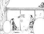 Masamune plays kickball with Tsubaki