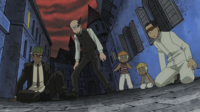 File:Soul Eater Episode 24 HD - DWMA students shocked at Death City attack.png