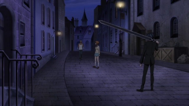 File:Soul Eater NOT Episode 10 HD - Akane and Sid surround Meme.png