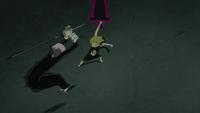Medusa using a Vector Blade on Crona