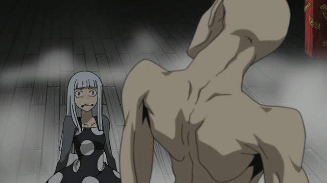 File:Soul Eater Episode 24 HD - Eruka shocked at Asura.png