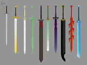 Great swords by ronin ink colored by theabyssalsymphony-d5mxeud