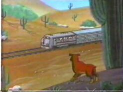 Reigning Cats & Dogs Train Passing