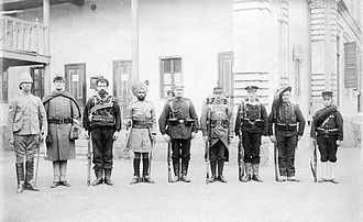 Troops of the Eight nations alliance 1900