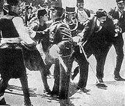 220px-Gavrilo Princip captured in Sarajevo 1914