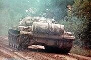 Rear view of a T-62A