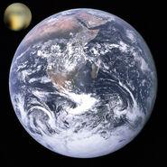 Pluto, Earth size comparison