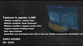 Space Engineers - Update 01.089 - New Scenario Conditions, New Voxel Material