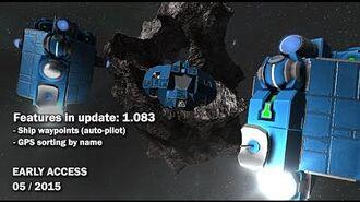 Space Engineers - Update 01.083 - Ship waypoints, GPS sorting