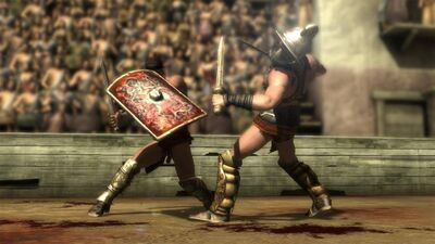 Spartacus fight