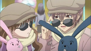 Megumi and Yahiro in disguise