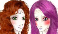 Concept art of Amelia Corona and Diana Queen