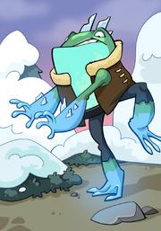 Frozen Frog A