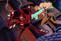 Carnage about to switch sides against John Jameson in Spider-Man Unlimited Season 1 Episode 2