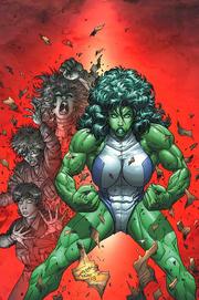 Jennifer (Earth-616) transforming in the She-Hulk
