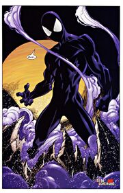 Peter (Earth-1610) bonded to the Symbiote