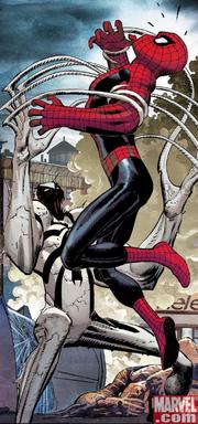 Anti-Venom tries to cure Spider-Man