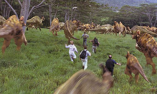 File:Stampeding herd of hadrosaurs.jpg